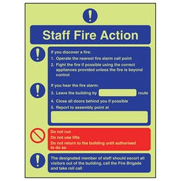 GITD Fire Action - Fire Instructions For Staff