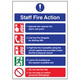 A4 - Staff Fire Action Notice