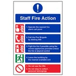Eco-Friendly Staff Fire Action Notice