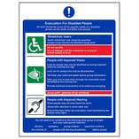 Evacuation For Disabled People - Portrait