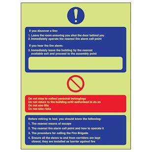 GITD Fire Action - If You Discover A Fire/Hear Fire Alarm