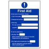 Eco-Friendly First Aid Action Notice