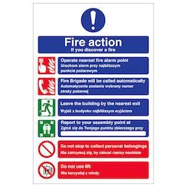 English/Polish - Fire Action