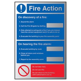 Fire Action Notice On Discovery/Only Attempt - Aluminium Effect