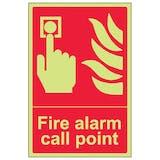 GITD Fire Alarm Call Point - Portrait