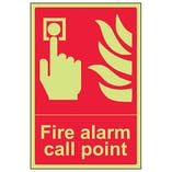 GITD Fire Alarm Call Point - Portrait