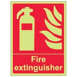 Glow In The Dark Fire Equipment Signs