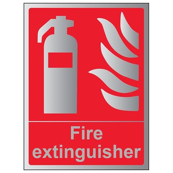 Fire Extinguisher - Portrait - Aluminium Effect