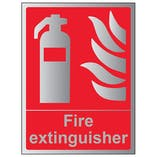 Fire Extinguisher - Portrait - Aluminium Effect