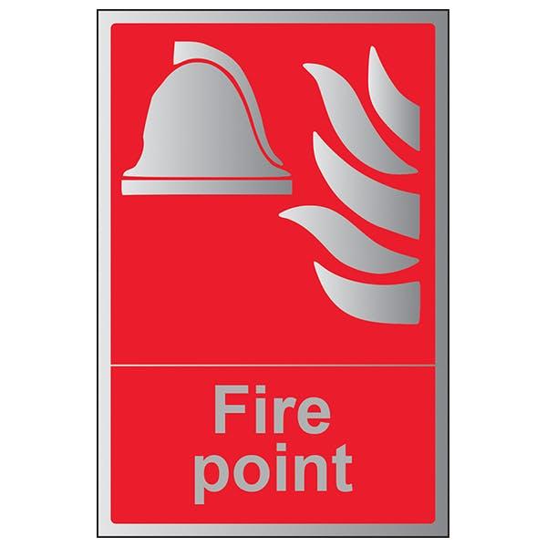 Fire Point - Portrait - Aluminium Effect
