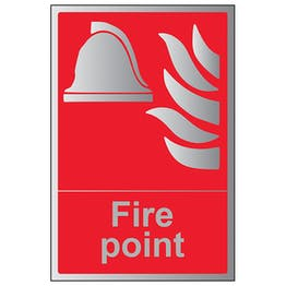 Fire Point - Portrait - Aluminium Effect