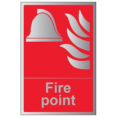 Aluminium Effect - Fire Point - Portrait