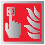 Fire Alarm Symbol - Aluminium Effect