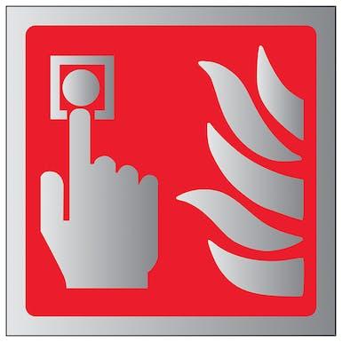 Aluminium Effect - Fire Alarm Symbol