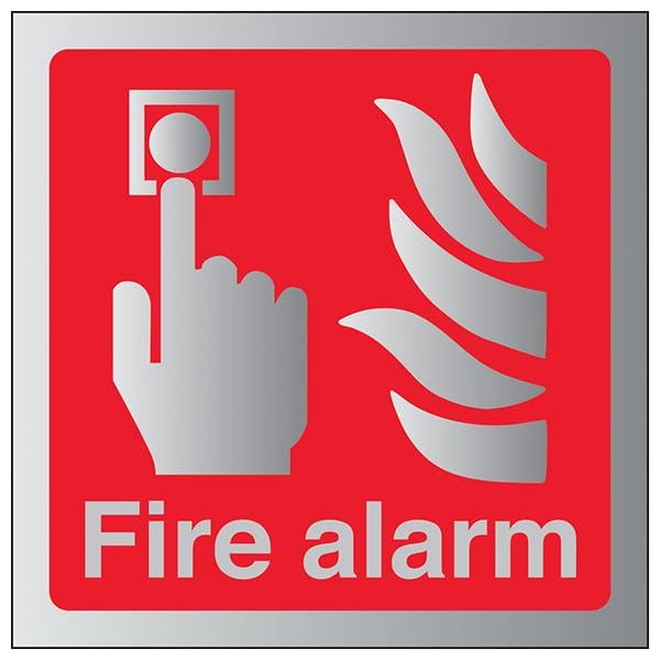 Fire Alarm - Square - Aluminium Effect