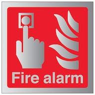 Aluminium Effect - Fire Alarm - Square
