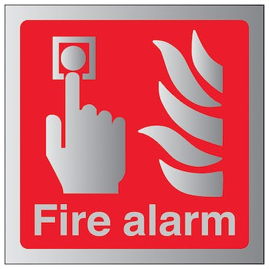 Aluminium Effect - Fire Alarm - Square