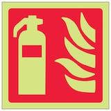 GITD Fire Extinguisher Symbol