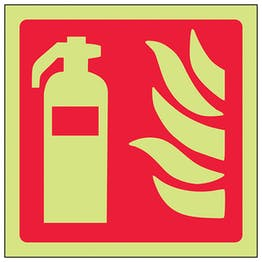 GITD Fire Extinguisher Symbol