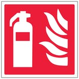 Fire Extinguisher Logo - Polycarbonate