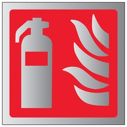 Fire Extinguisher Symbol - Aluminium Effect