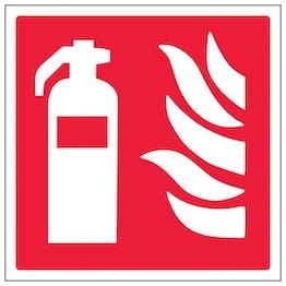 Eco-Friendly Fire Extinguisher Symbol