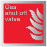 Gas Shut Off Valve - Aluminium Effect