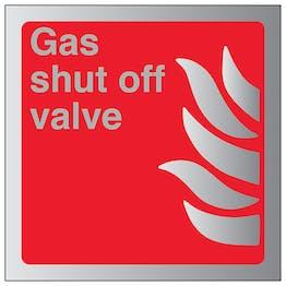 Gas Shut Off Valve - Aluminium Effect