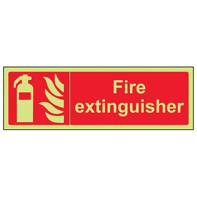 GITD Fire Extinguisher - Landscape