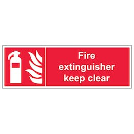 Fire Extinguisher Keep Clear - Landscape