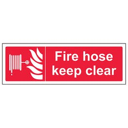 Fire Hose Keep Clear - Landscape