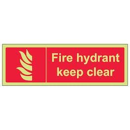 GITD Fire Hydrant Keep Clear - Landscape