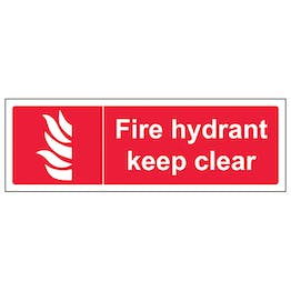 Fire Hydrant Keep Clear - Landscape