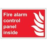 Fire Alarm Control Panel Inside - Landscape