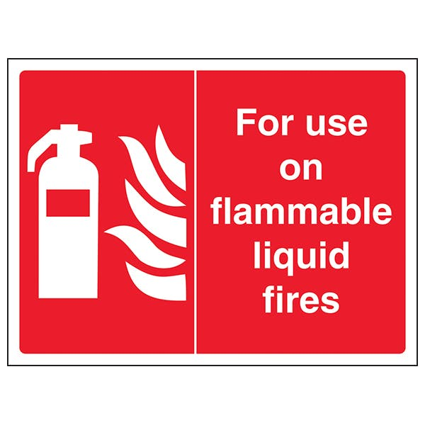 For Use On Flammable Liquid Fires - Landscape