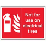 Not For Use On Electrical Fires - Landscape