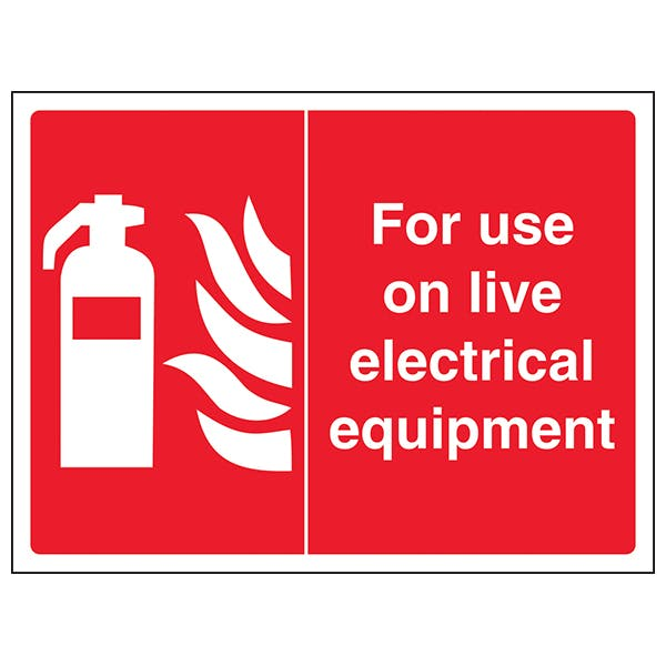 For Use On Live Electrical Equipment - Landscape