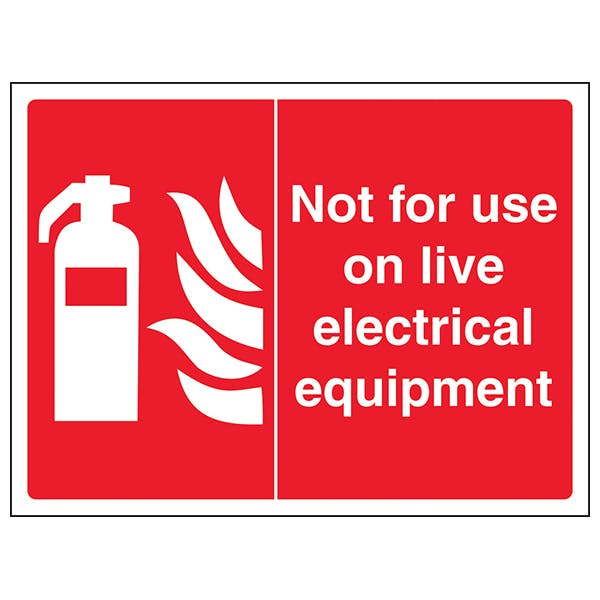 Not  For Use On Live Electrical Equipment - Landscape