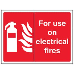 For Use On Electrical Fires - Landscape