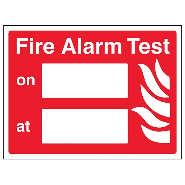 Fire Alarm Test - Landscape