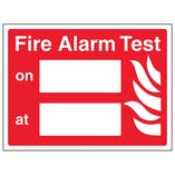 Fire Alarm Test - Landscape