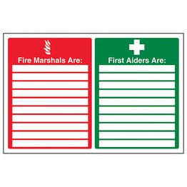 Fire Marshals / First Aiders - Landscape