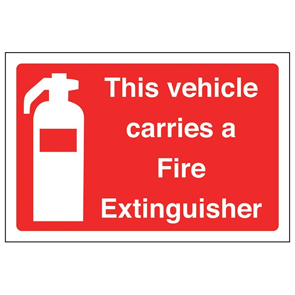 This Vehicle Carries A Fire Extinguisher - Window Sticker