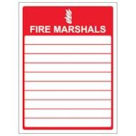 Fire Marshals