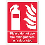 Please Do Not Use Extinguishers As A Door Stop