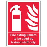 Fire Extinguishers To Be Used By Trained Staff