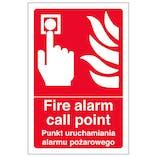 English/Polish - Fire Alarm Call Point