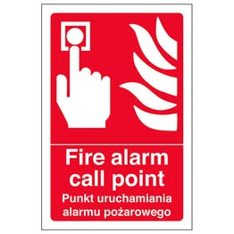English/Polish - Fire Alarm Call Point