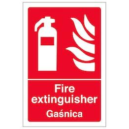 English/Polish - Fire Extinguisher
