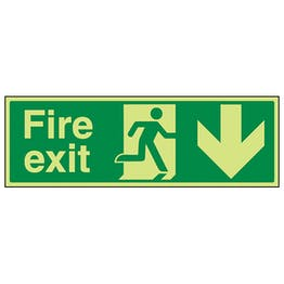GITD Fire Exit Arrow Down